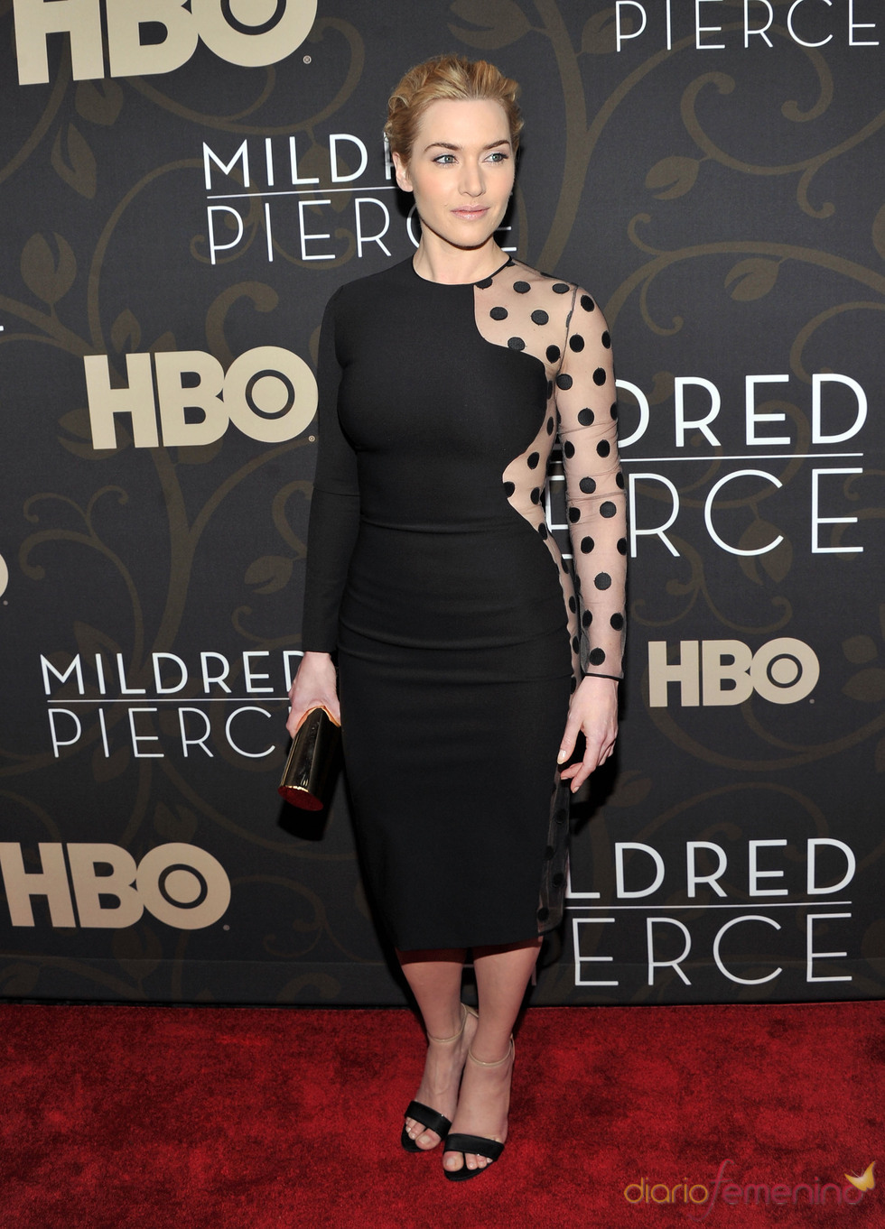 kate Winslet en el estreno de 'Mildred Pierce'