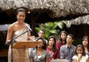 Michelle Obama alienta a los jóvenes brasileños en un discurso