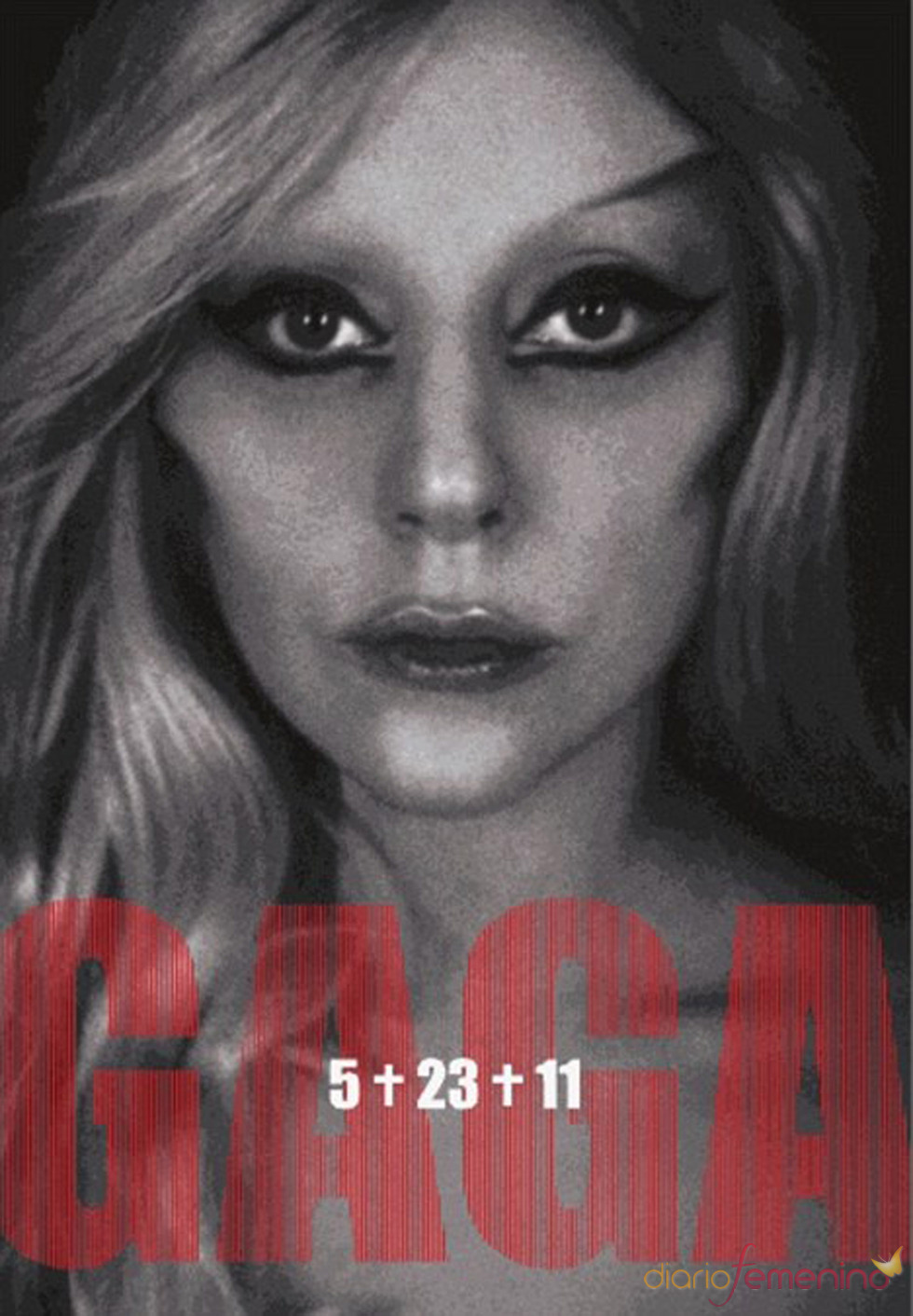 Una foto de Lady Gaga promocionando 'Born this way'