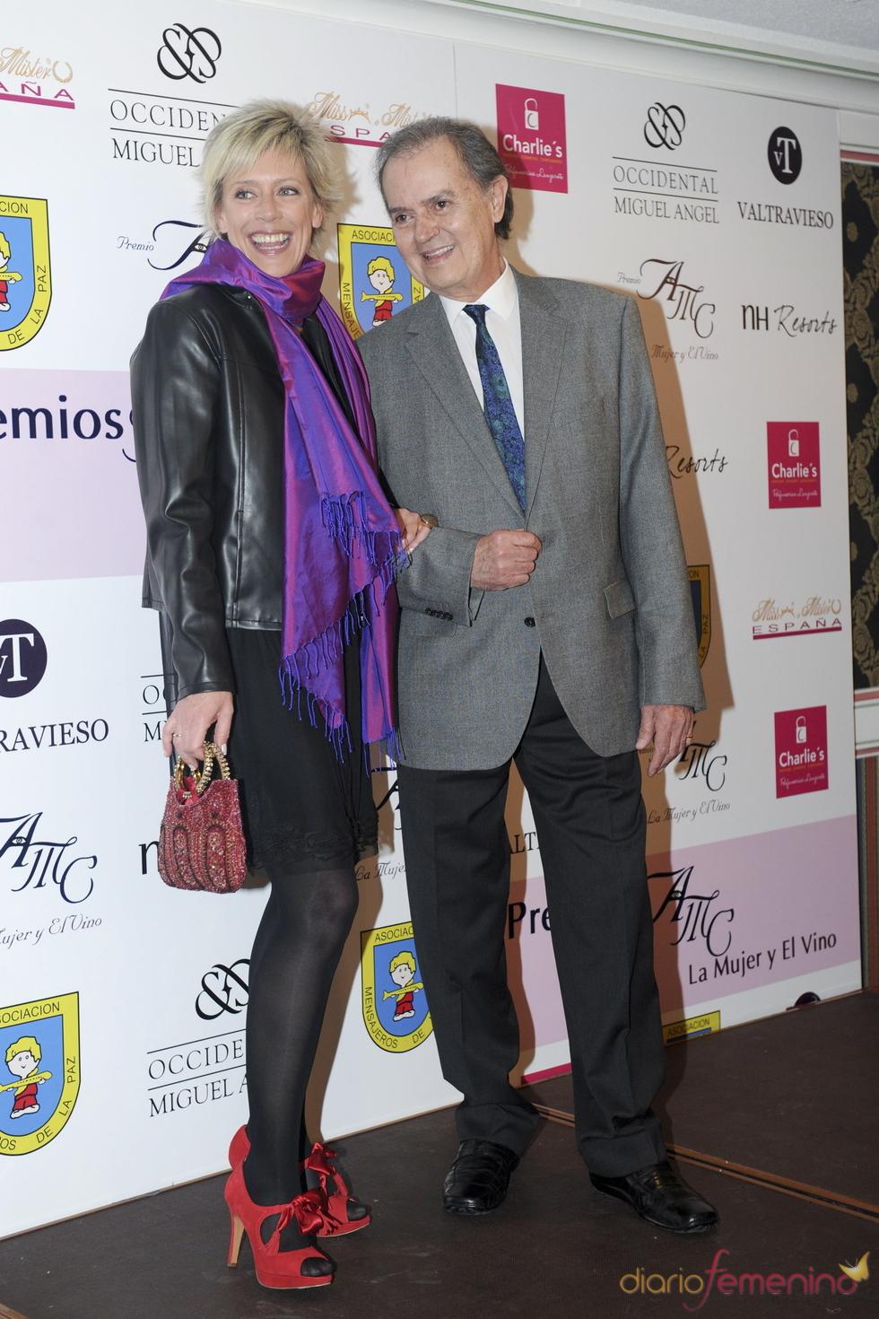 Junior y Concha Galán en los premios AMC 'La Mujer y el Vino'