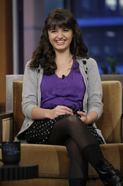 Rebecca Black contenta de estar en el show de Jay Leno