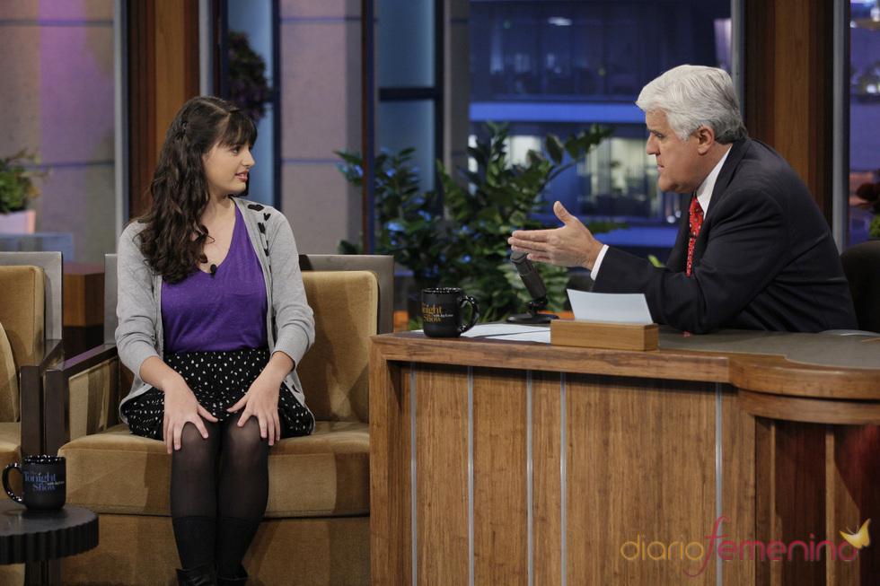 Rebecca Black junto a Jay Leno en su show