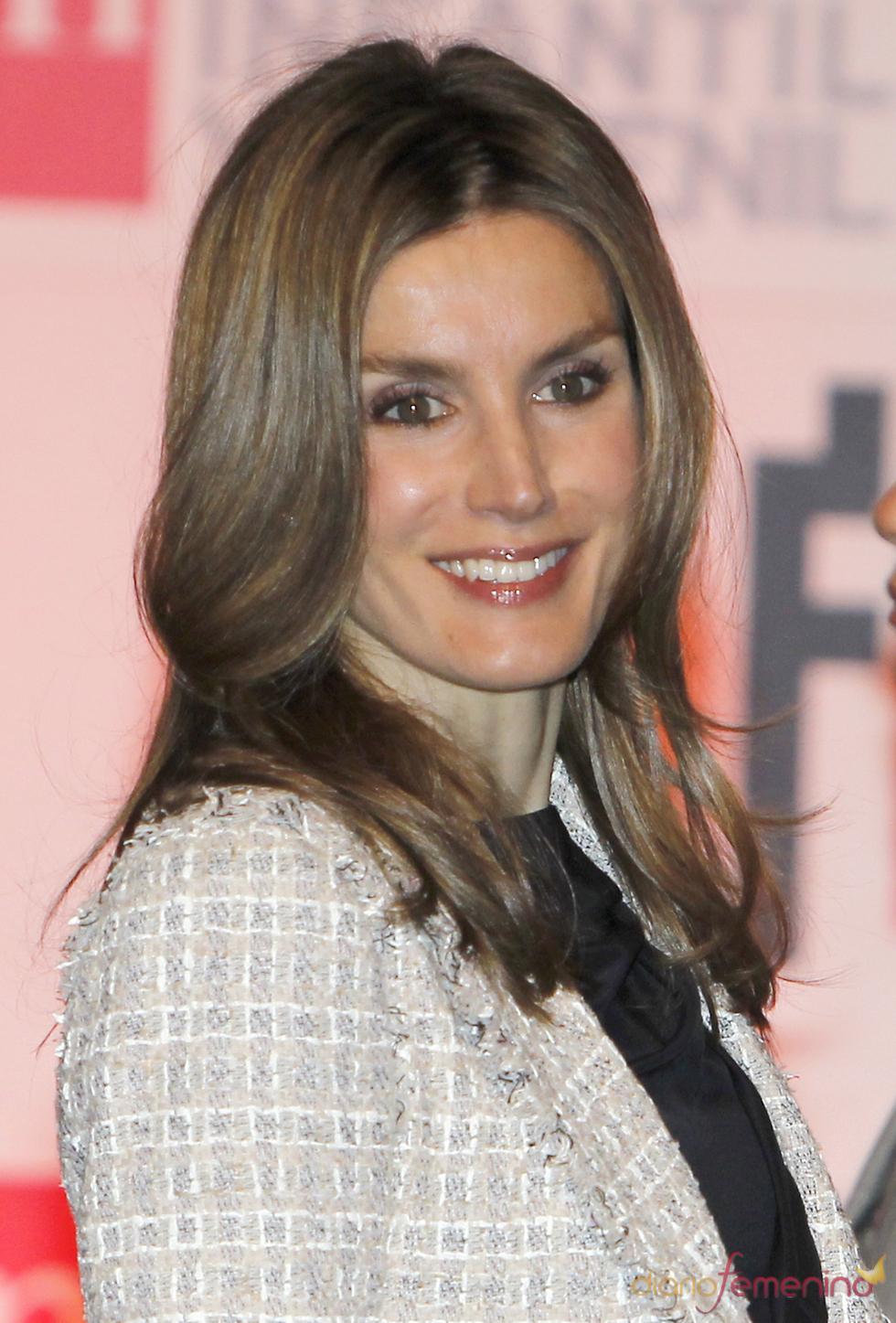 La Princesa de Asturias durante la entrega de los Premios de Literatura SM