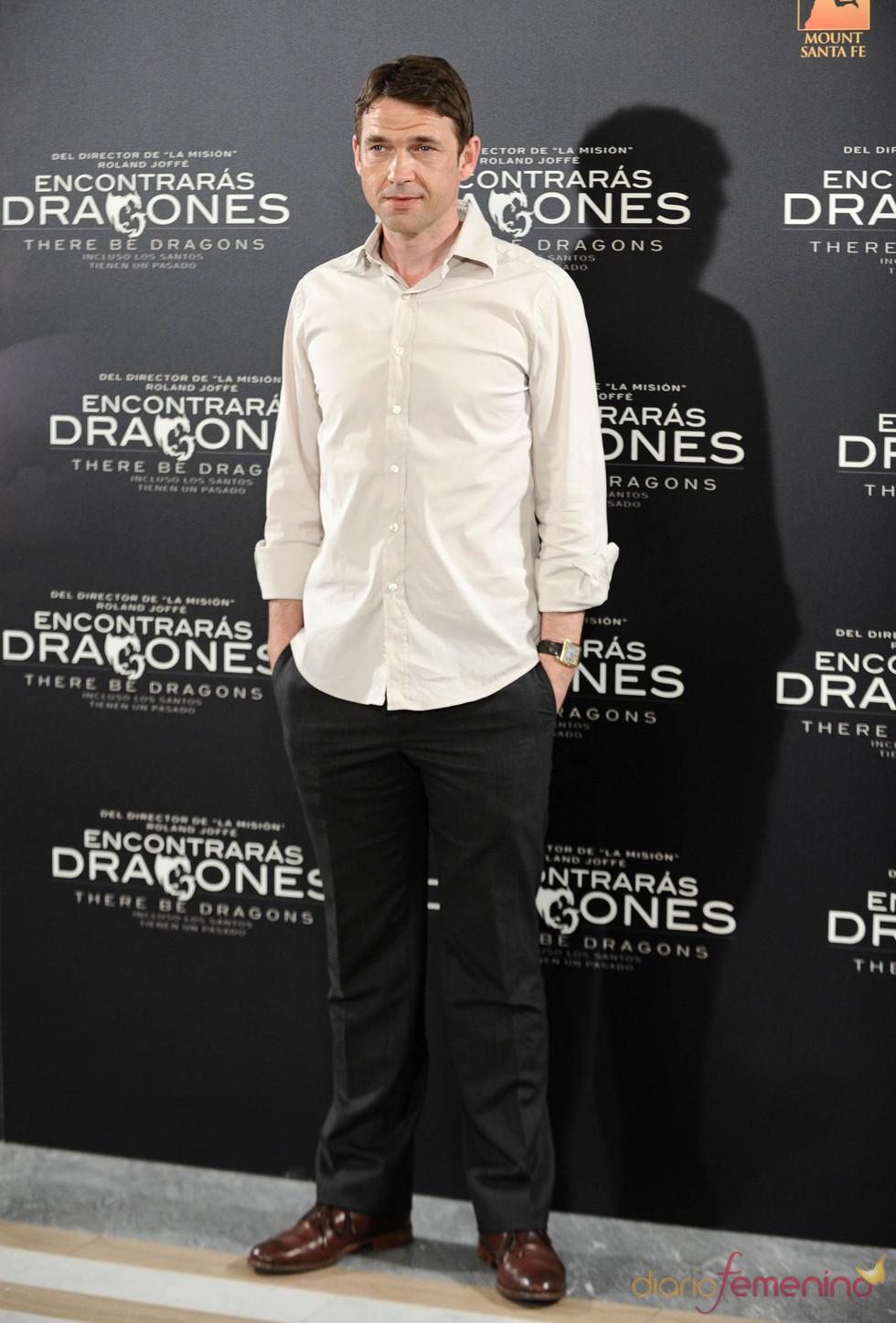 Dougray Scott en la presentación de 'Encontrarás dragones'
