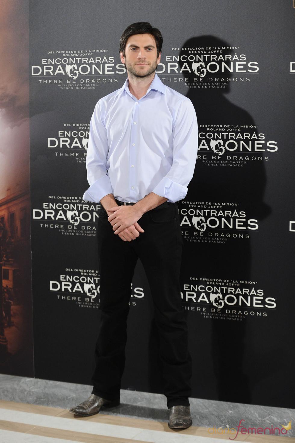 Wes Bentley en la presentación de 'Encontrarás dragones'