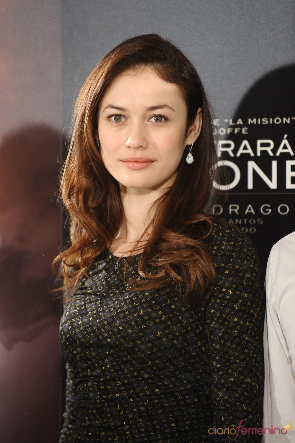 Olga Kurylenko en la presentacion de 'Encontrarás dragones'