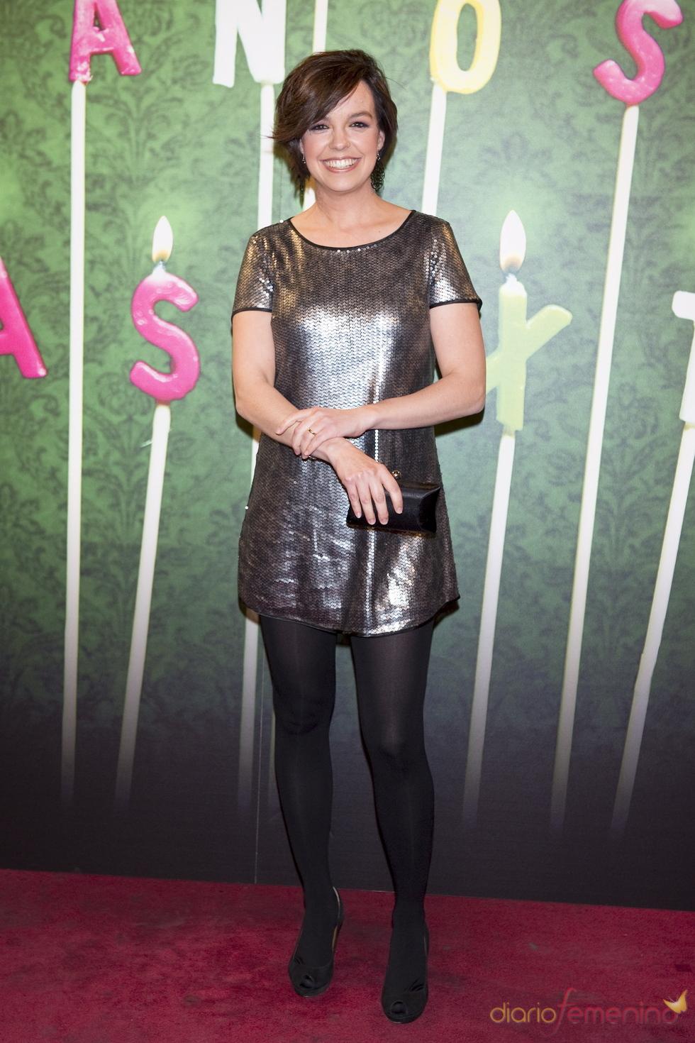 Cristina Villanueva en la fiesta del 5º aniversario de 'La Sexta'