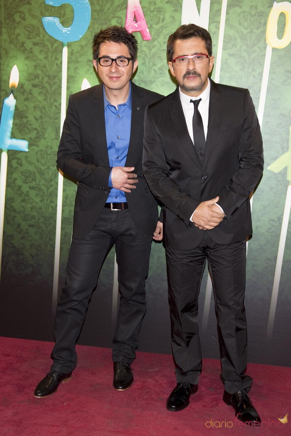 Berto Romero y Andreu Buenafuente en la fiesta del 5º aniversario de 'La Sexta'