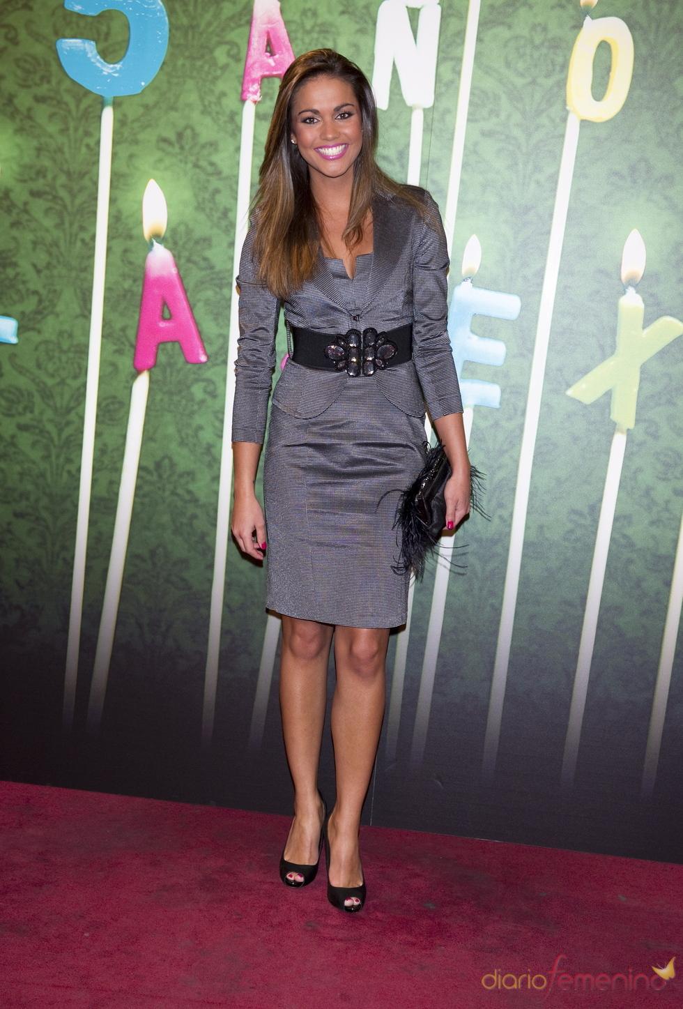Lara Alvarez en la fiesta del 5º aniversario de 'La Sexta'