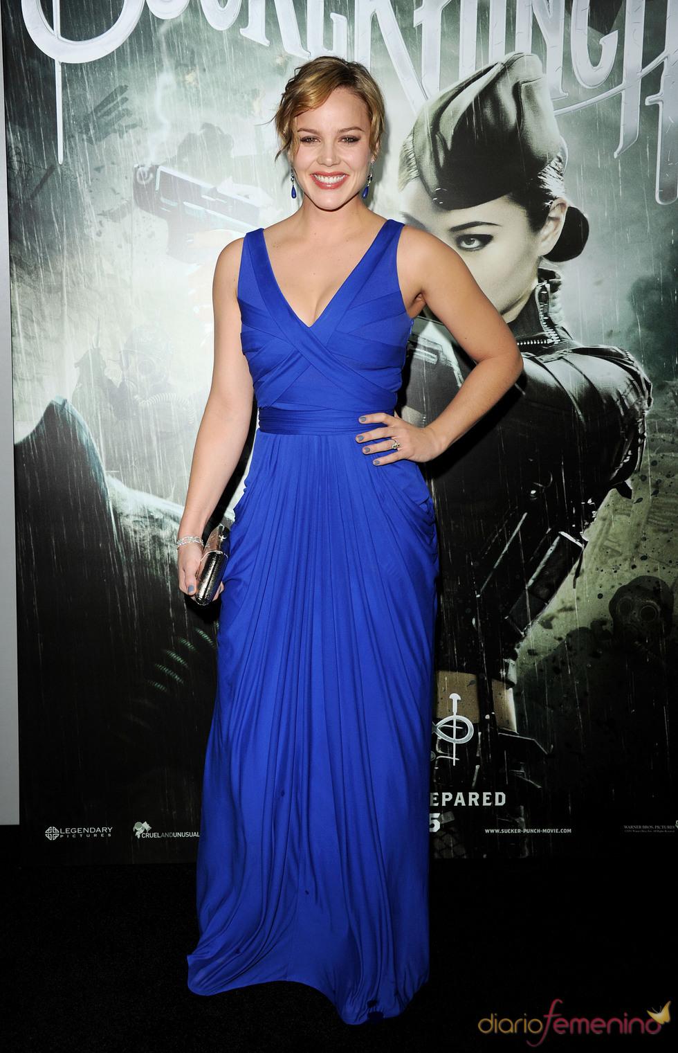 La protagonista Abbie Cornish en la premiere de 'Sucker Punch'