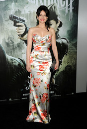 La protagonista Carla Gugino en la premiere de 'Sucker Punch'
