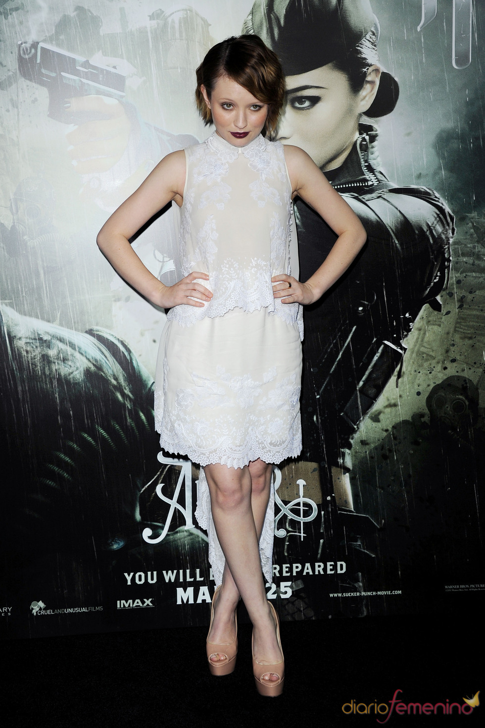 La protagonista Emily Browning en la premiere de 'Sucker Punch'
