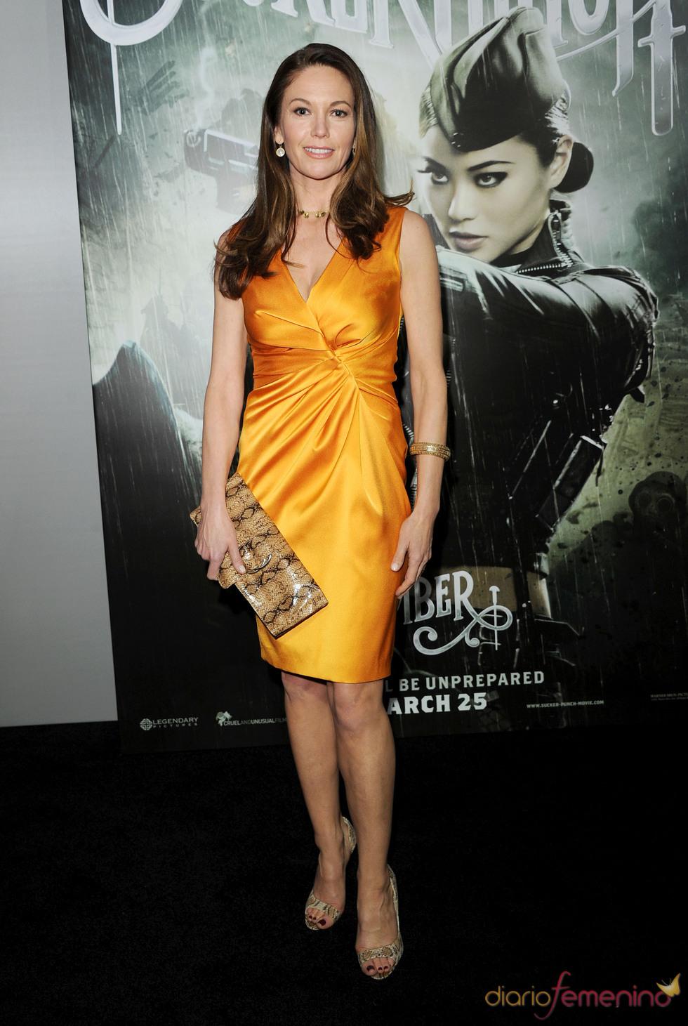 Diane Lane en la presentación de 'Sucker Punch'