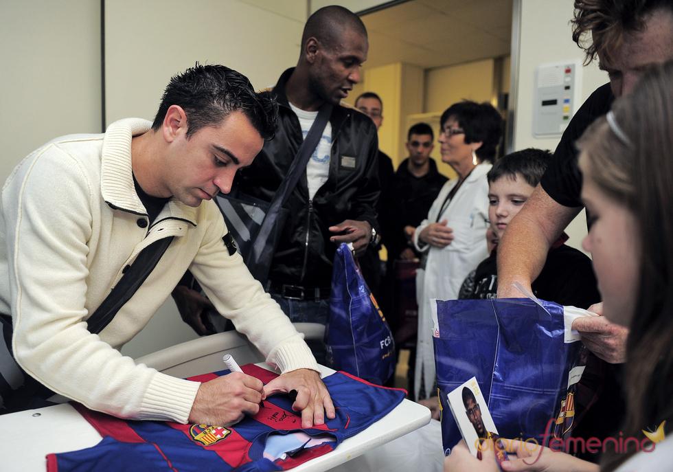 Xavi Hernández, uno de los más solidarios