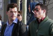 Oriol Vila y Miguel Ángel Silvestre rodando 'Los Pelayo'