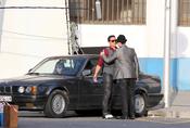 Daniel Brühl y Miguel Ángel Silvestre rodando 'Los Pelayo'