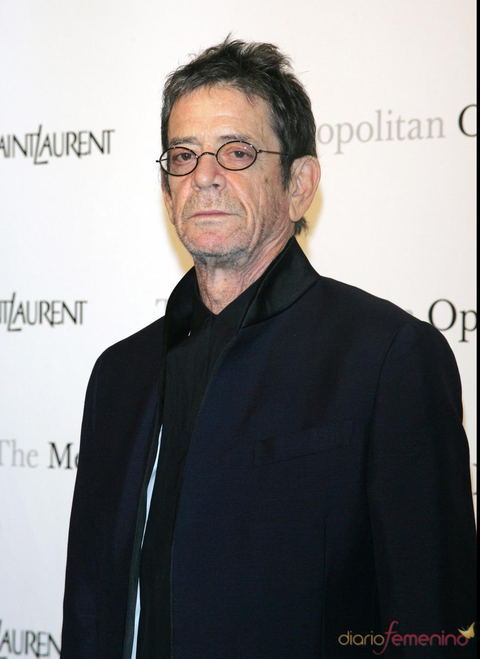 El cantante Lou Reed en la ópera de Nueva York