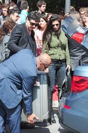 Carlos Bardem y Cecilia Gessa a su llegada al Festival de Cine de Málaga