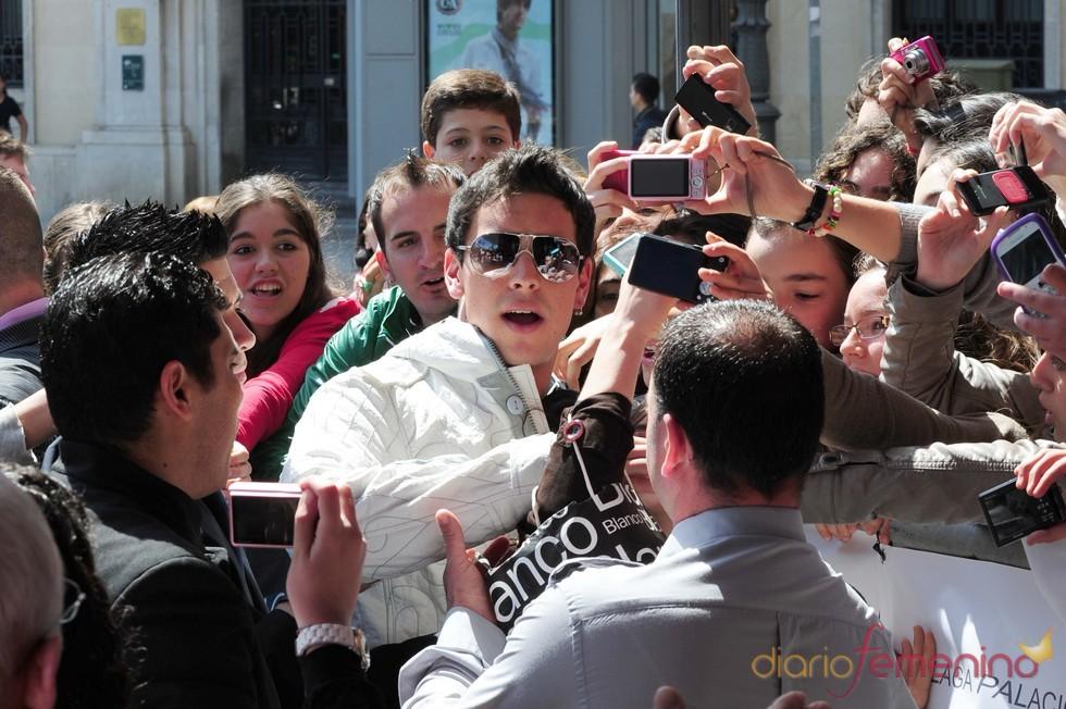 Mario Casas a su llegada al Festival de Cine de Málaga