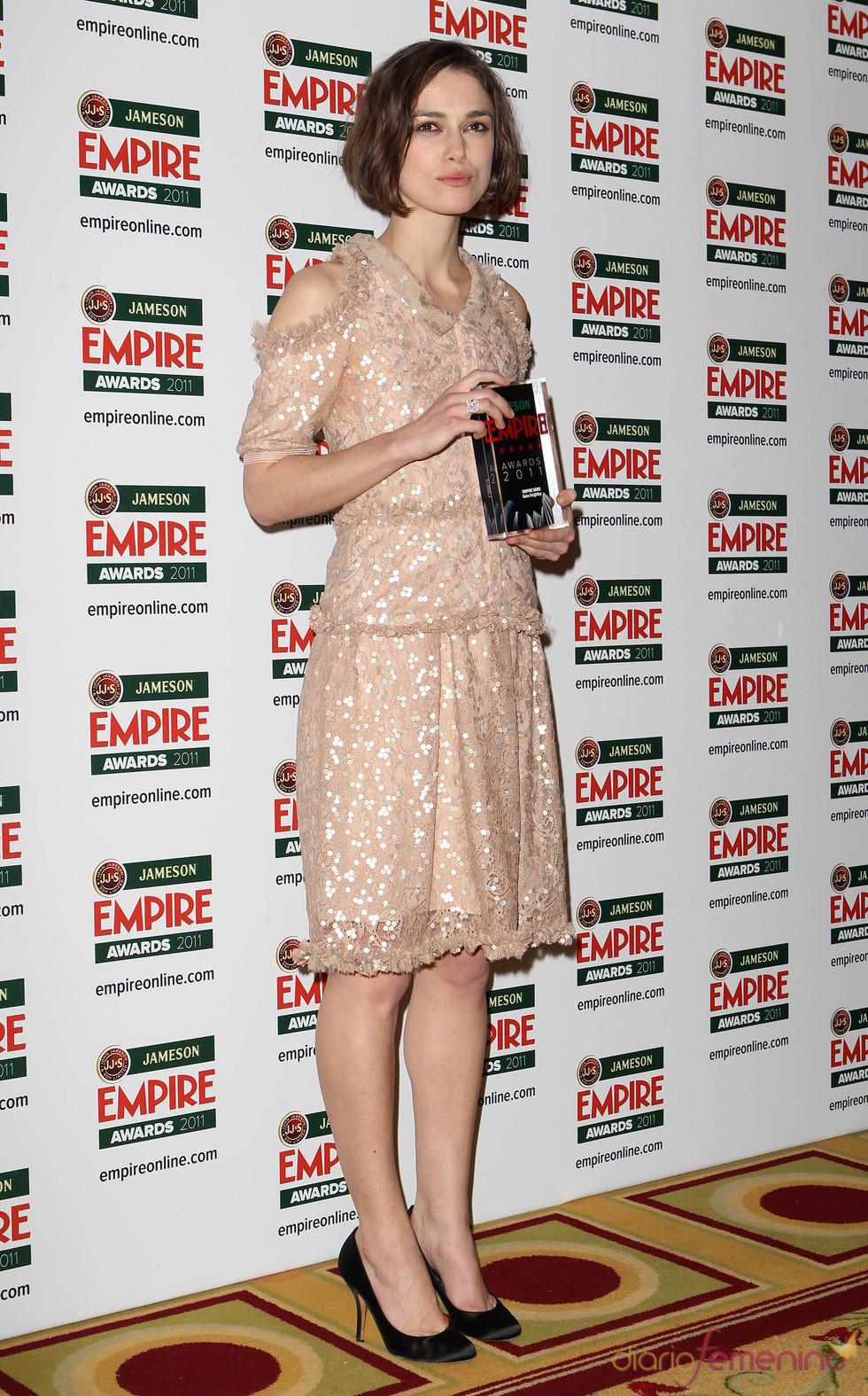 Keira Knightley, galardonada en los Premios Empire