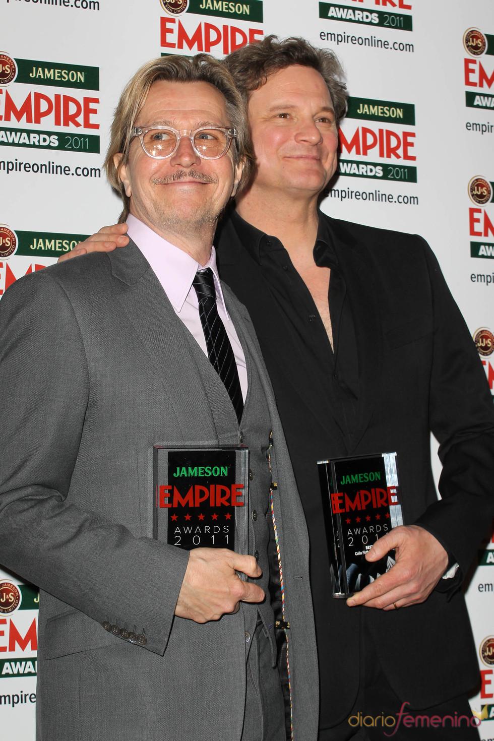 Colin Firth y Gary Oldman en los Premios Empire