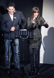Paco León y Aitana Sánchez-Gijón en la gala Mecenazgo del Teatro Lara