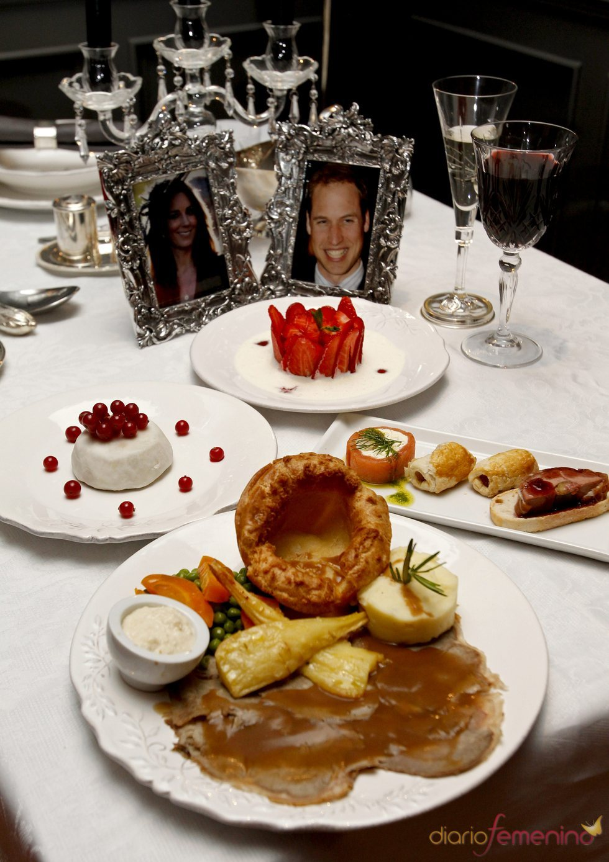 Un bar madrileño ofrece el menú de la boda de Guillermo de Inglaterra y Kate Middleton