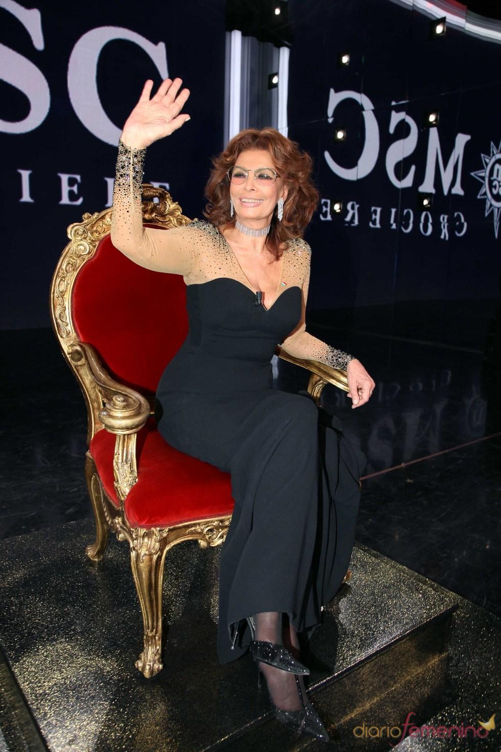 Sofía Loren en el programa '150 años de la unidad de Italia'