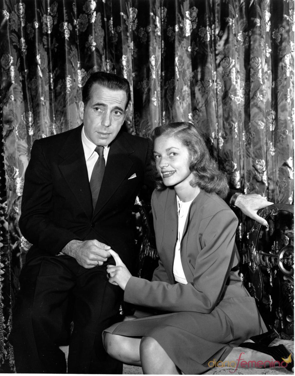 Lauren Bacall y su marido Humphrey Bogart