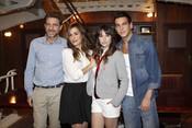 Juanjo Artero, Irene Montalà, Blanca Suárez y Mario Casas en 'El Barco'
