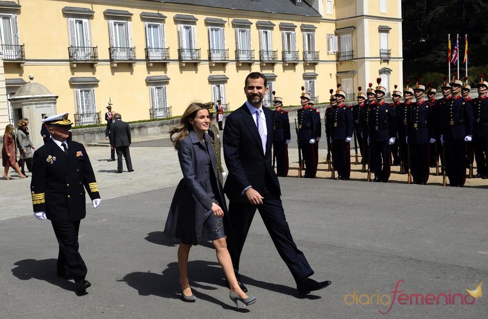 Los Príncipes de Asturias en El Pardo