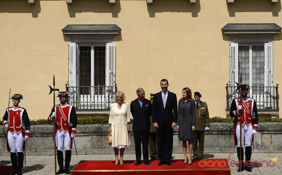 Los Príncipes de Asturias y Camilla y Carlos de Inglaterra en el Palacio de El Pardo