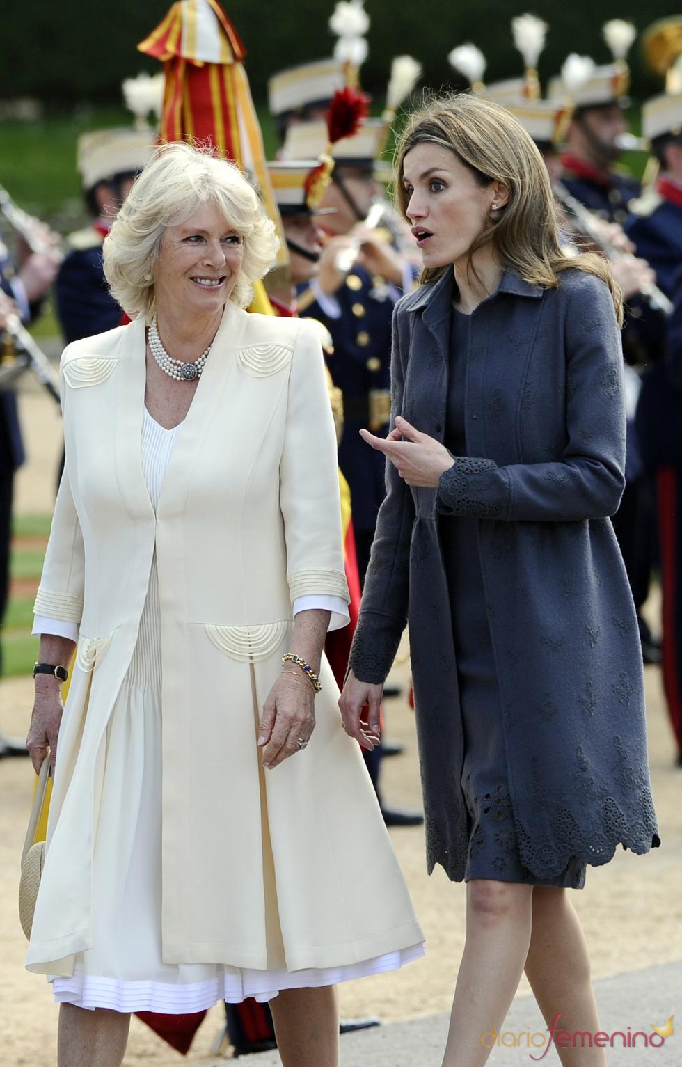 Camilla Parker Bowles y la Princesa Letizia
