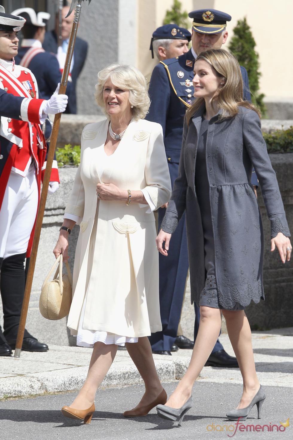 La Princesa de Asturias y Camilla Parker Bowles en el Palacio de El Pardo