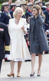 La Princesa Letizia charla con Camilla Parker Bowles