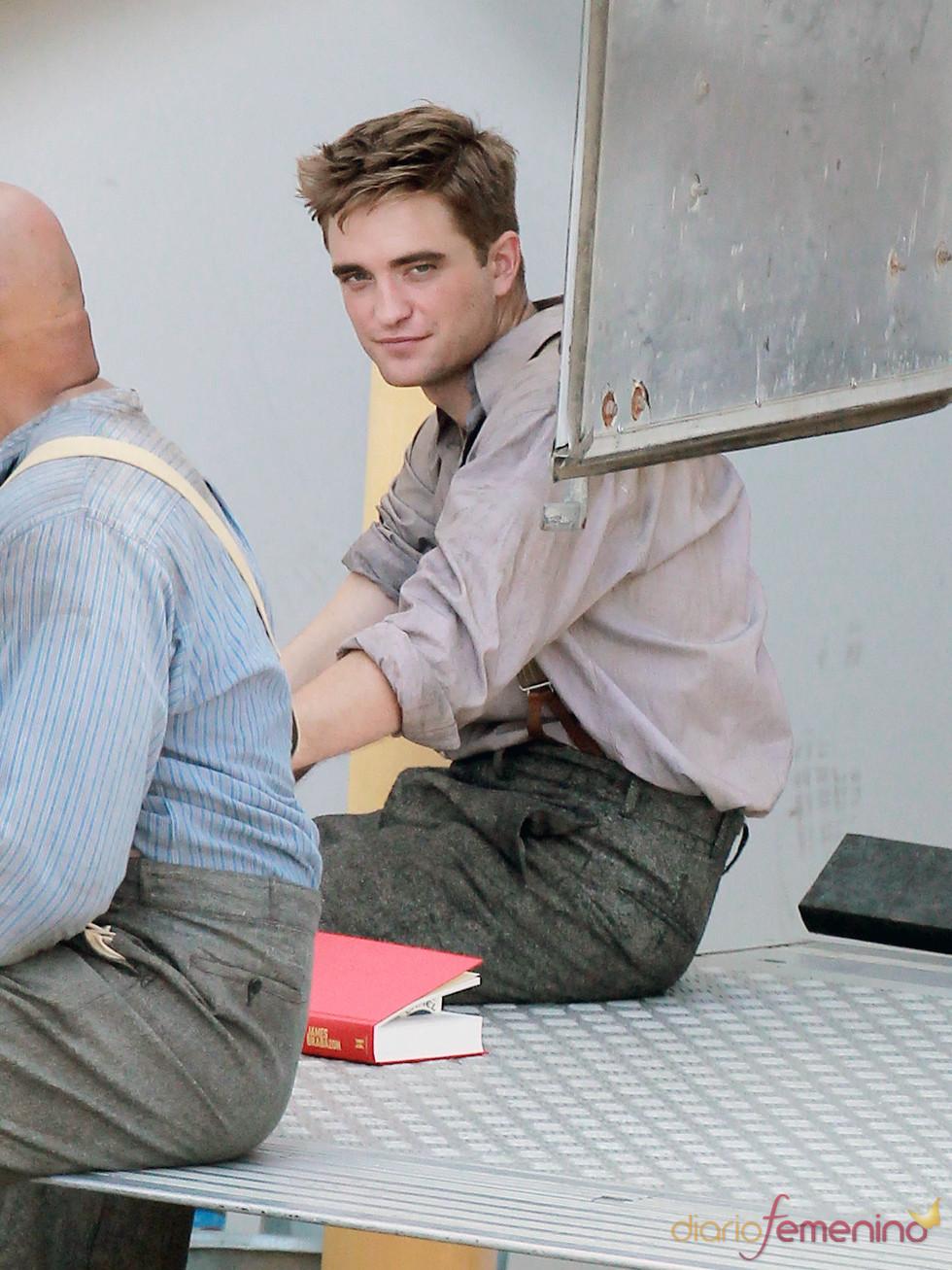 Robert Pattinson durante el rodaje de 'Water for Elephants'