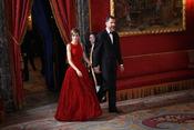 Los Príncipes Felipe y Letizia llegan al Palacio Real