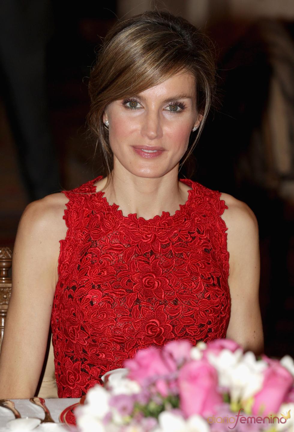 La Princesa Letizia en la cena de gala