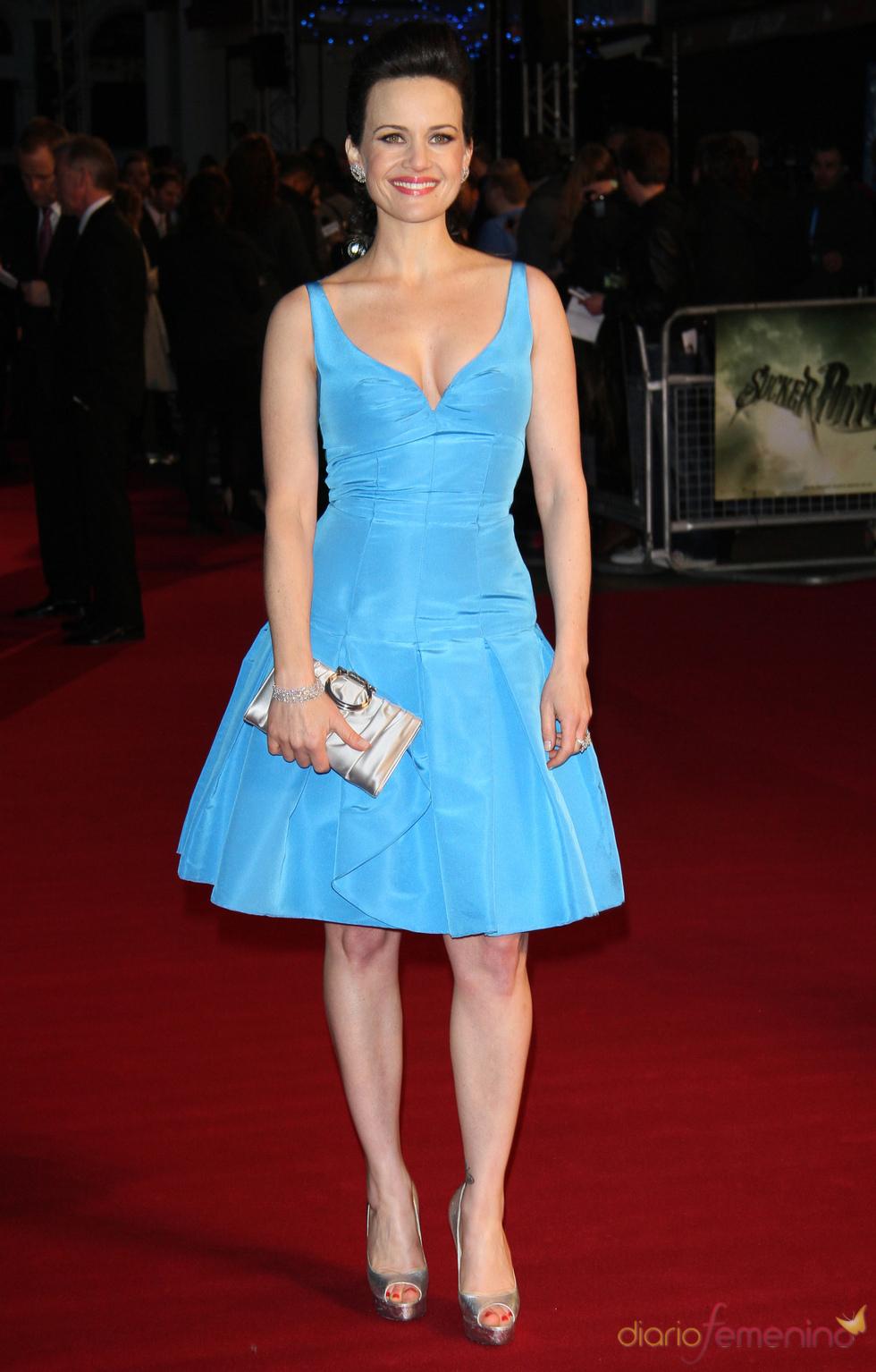 La actriz Carla Gugino en la premiere de 'Sucker Punch' de Londres
