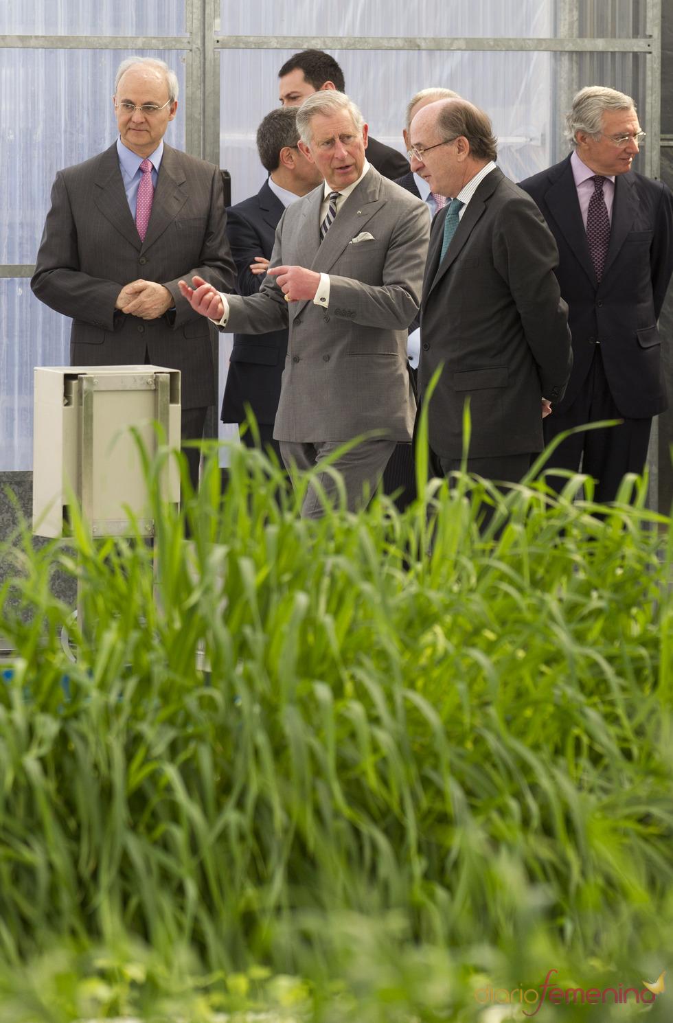 El Príncipe Carlos de Inglaterra visita Repsol en Madrid