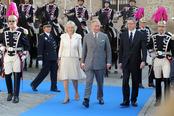 El Príncipe Carlos, la Duquesa de Cornualles y el Alcalde de Madrid