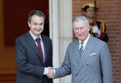 El Presidente Zapatero con el Príncipe Carlos de Inglaterra