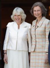 La Duquesa de Cornualles y la Reina Sofía en Zarzuela