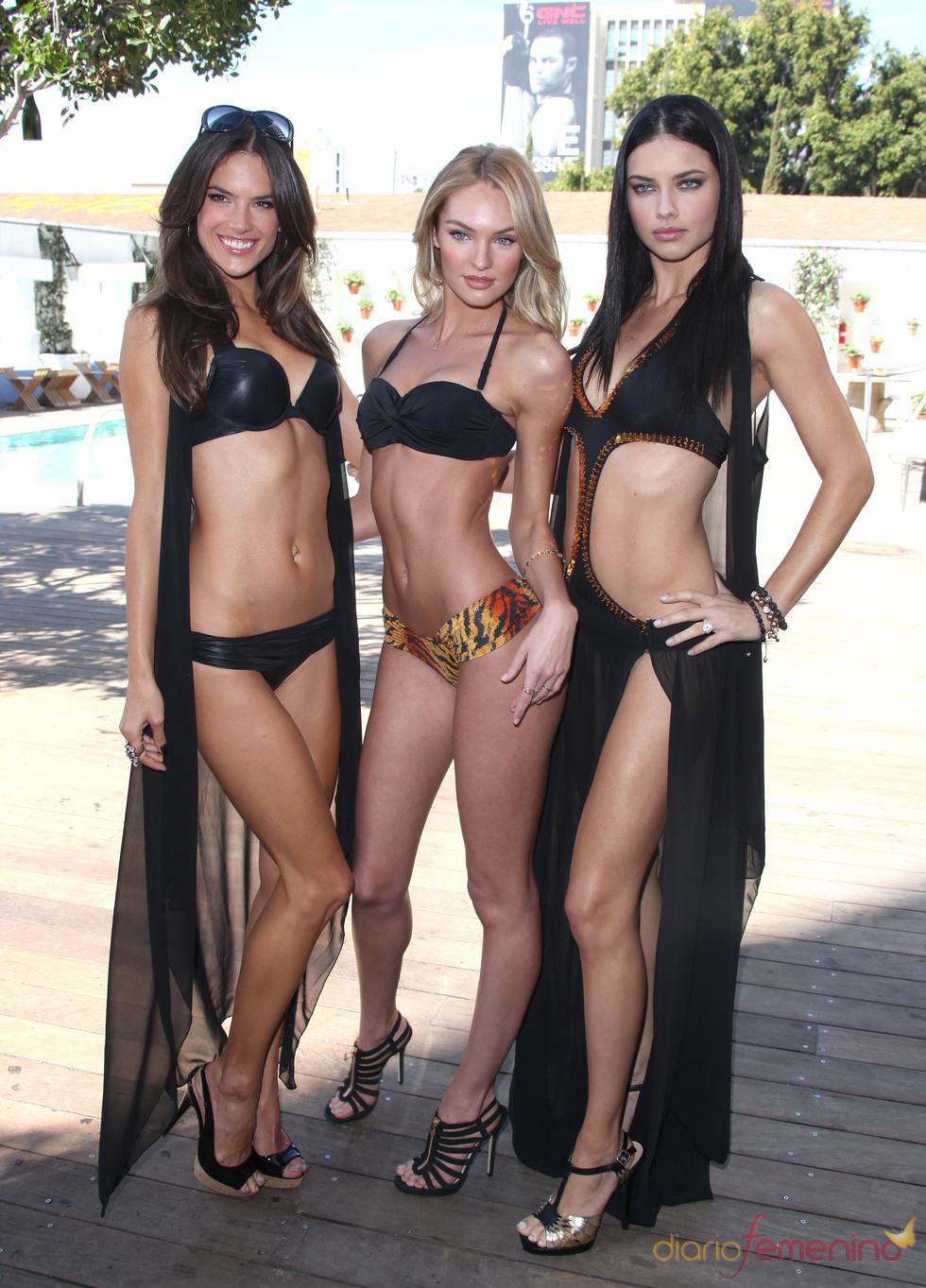 Adriana Lima, Alessandra Ambrosio y Candice Swanepoel presumen de huesos