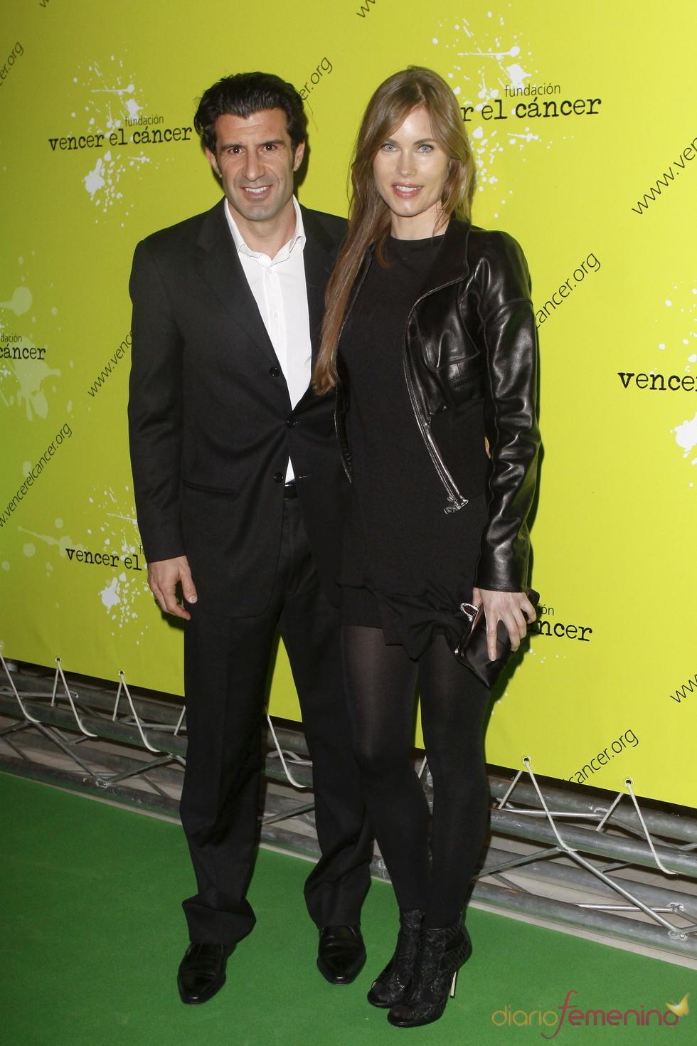 Luis Figo y Helen Swedin, embajadores de la Fundación Vencer el Cáncer