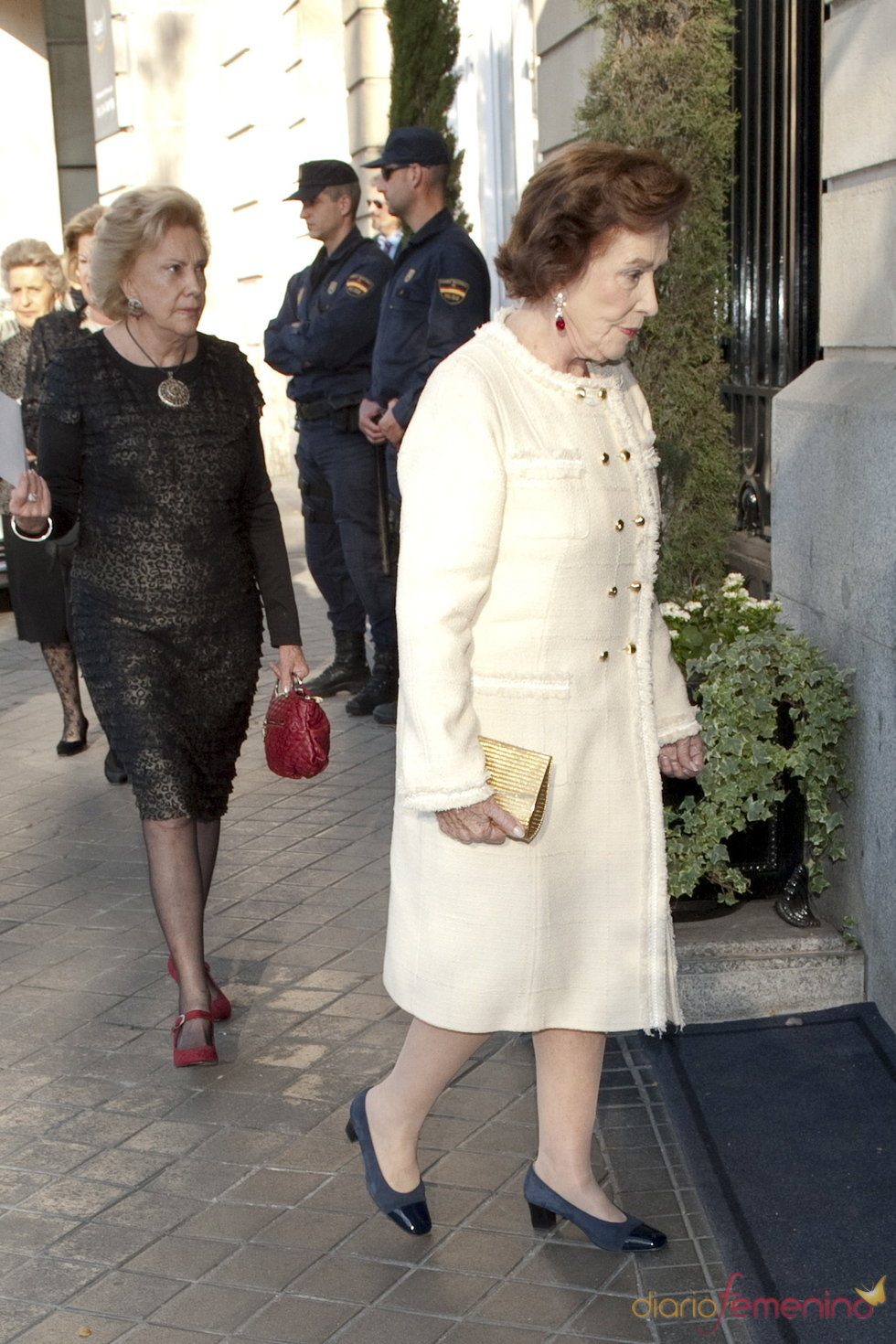 Carmen Franco a su llegada al Hotel Ritz