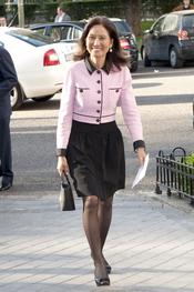 Carolina Tieu a su llegada al Hotel Ritz