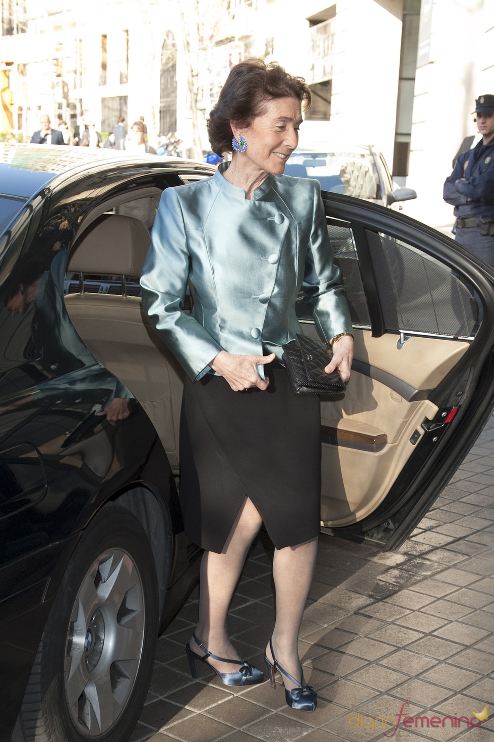 Covadonga Oshea a su llegada al Hotel Ritz