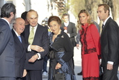 Carlos Zurita y la infanta Margarita a su llegada al Hotel Ritz