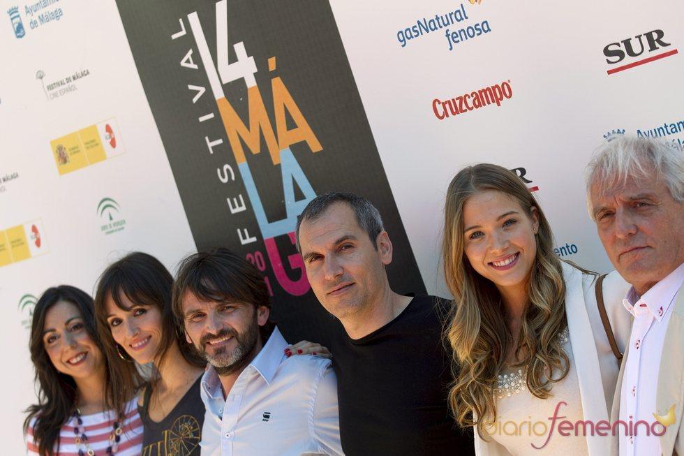David Marqués y el reparto de la película 'En fuera de juego'